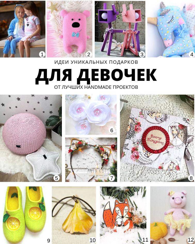 Идеи уникальных подарков от лучших handmade проектов Для девочек | planner.cbiz.club