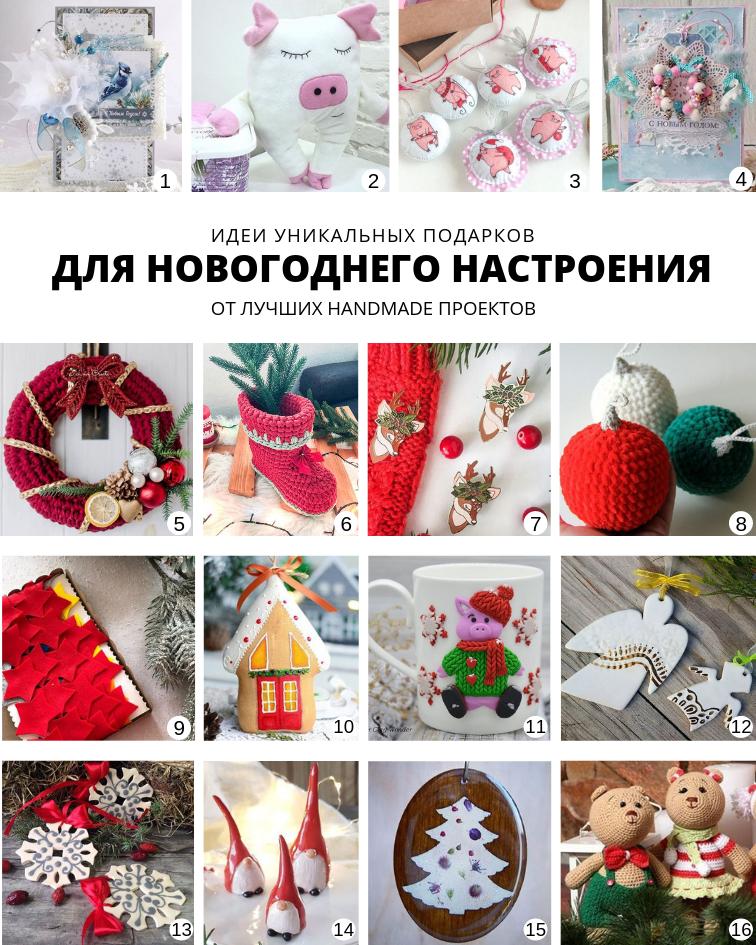 Идеи уникальных подарков от лучших handmade проектов Для новогоднего настроения | planner.cbiz.club